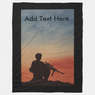 Custom Fleece Blanket Military and Veterans