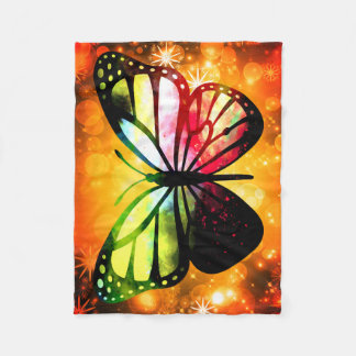 Custom Fleece Blanket, Small - Butterfly