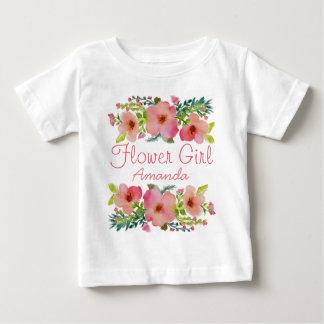 Custom floral baby T-Shirt