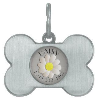 CUSTOM FLORAL DAISY  IDENTIFICATION DOG TAG PET TAGS