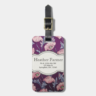 Custom Floral Luggage Tag