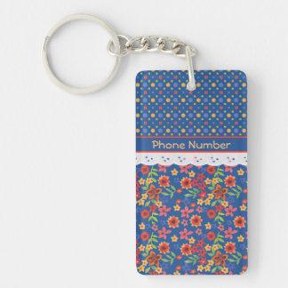 Custom Floral, Polkas, Faux Lace Acrylic Keychain