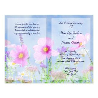 Custom Floral Wedding Programs Flyer Wild Flowers