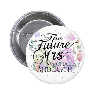 Custom Flower Bridal Gift 6 Cm Round Badge