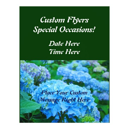 Custom Flyers Special Occasions! Blue Green Floral