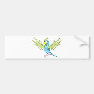 Custom Flying Parrot Bumper Sticker