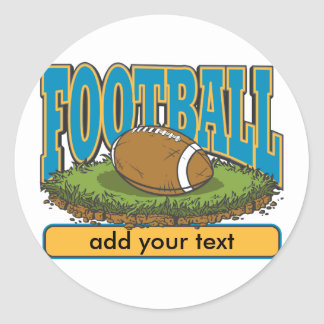 Custom Football Add Text Round Sticker