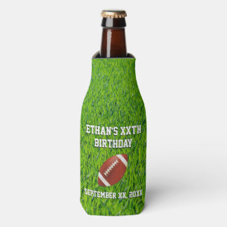 Custom Football Birthday Party Bottle Cooler