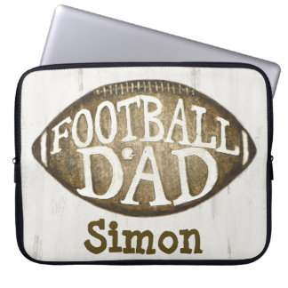 Custom Football Dad / Father's Day Laptop Sleeve