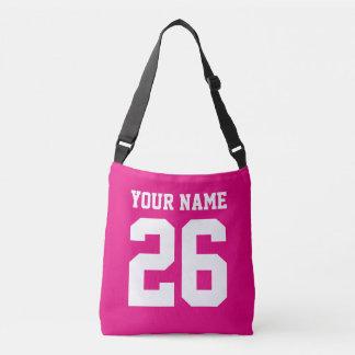 Custom football jersey number cross body bag