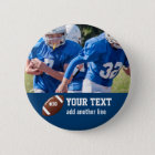 Custom Football Photo Name and Number 6 Cm Round Badge