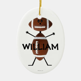 Custom Football Player Christmas Ornament