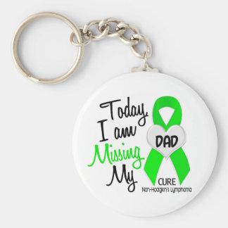 Custom For Olivia Missing My Dad Lymphoma Basic Round Button Key Ring