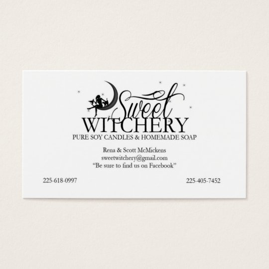 Custom for Sweet Witchery Business Card