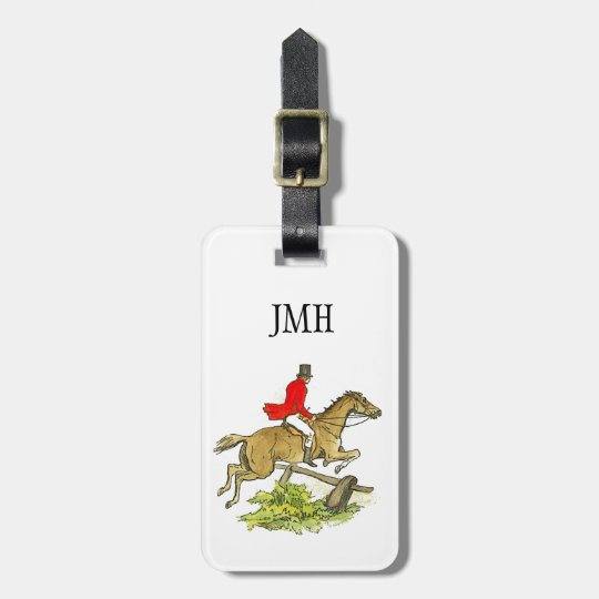 Custom Fox Hunt Jumper Hunter Horseback Riding Luggage