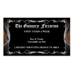 Custom FPistol Firearm Gun Shop Business Cards