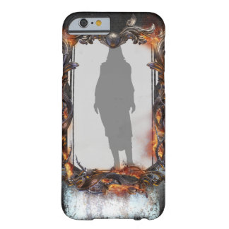 Custom Frame Metal and Fire Character iPhone Case