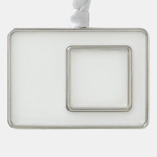 Custom Framed Ornament (Horizontal), Silver Plated