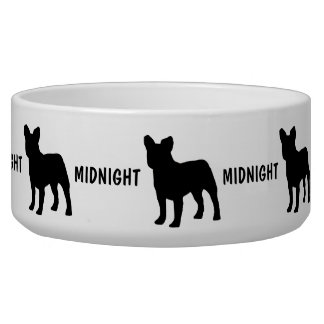 Custom French Bulldog Dog Bowl