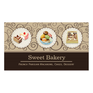 Custom French Parisian Macarons Chocolate Store Pack Of Standard Business Cards