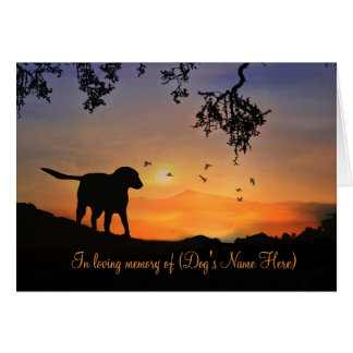 Custom Front With Dog's Name Memorial Card