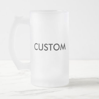 Custom Frosted Beer Glass 16oz Mug