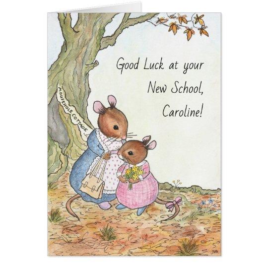 Custom Fun Cute Mouse Good Luck New School