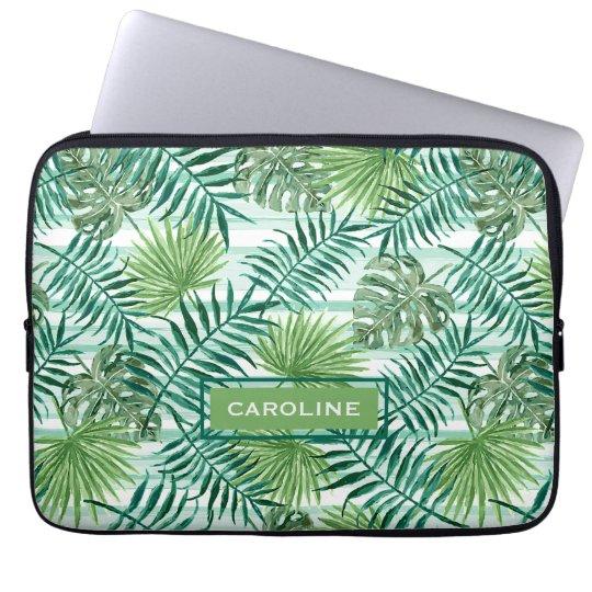 Custom Fun Hip Tropical Green Palm Leaves Pattern