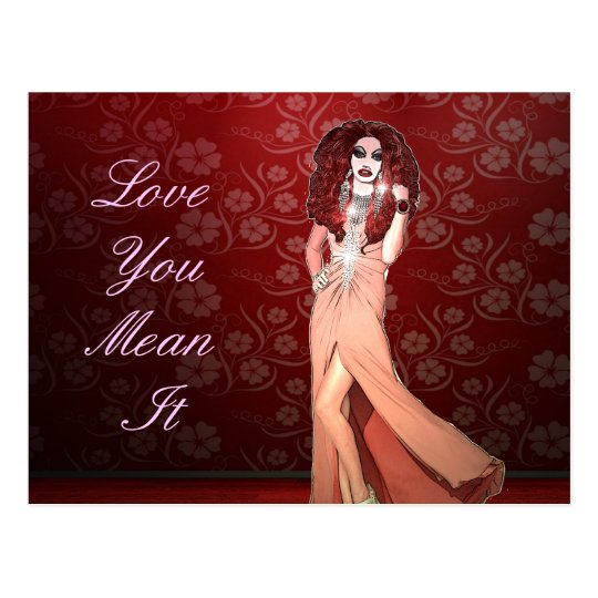 Custom Funny Drag Queen Postcard