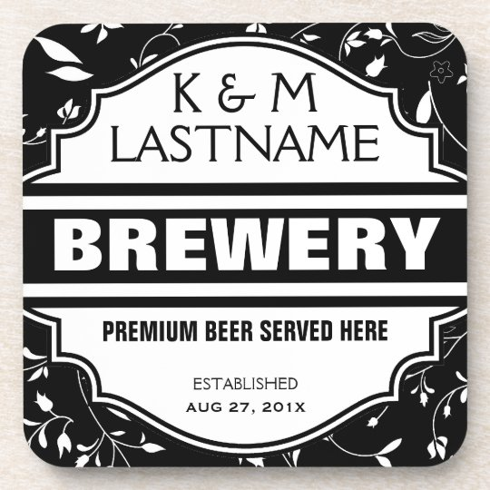 Custom Funny Home Brewer Beer Sign Coaster
