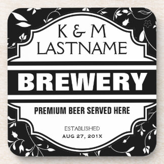 Custom Funny Home Brewer Beer Sign Coasters