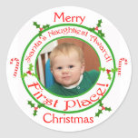 Custom Funny Merry Christmas Ornament Stickers