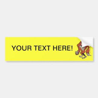 Custom Funny Sasquatch Bumper Sticker