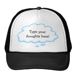 Custom Funny Thought Bubble Cap Template