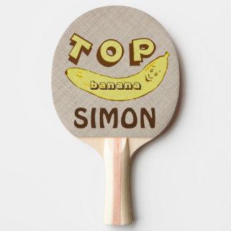 Custom Funny Top Banana Ping Pong Paddle