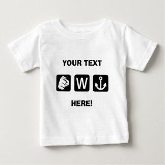 Custom Funny You W Anchor Infant T-Shirt