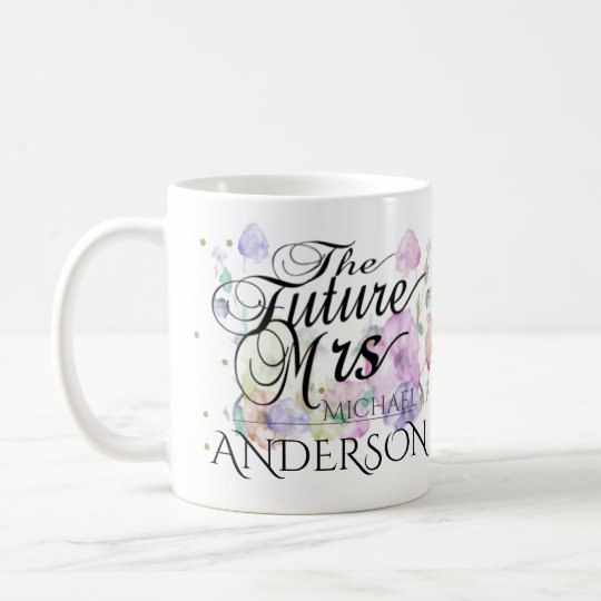 Custom Future Mrs Calligraphy Coffee Mug