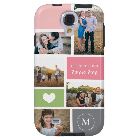 Custom Galaxy S4 Mother's Day Photo Collage Cover