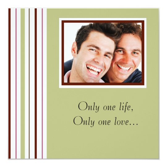 Custom Gay Photo Wedding Invitation