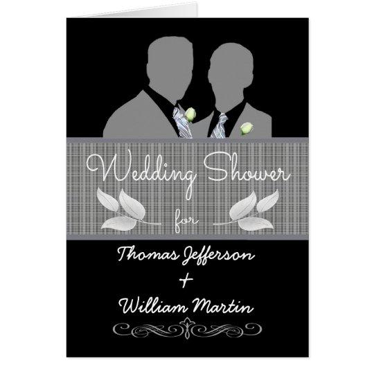 Custom Gay Wedding Shower Invitation