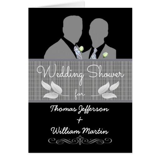 Custom gay wedding shower invitation zazzle for Gay wedding shower invitations