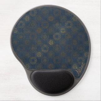 Custom Gel Mousepad - Golden Compass on Blue Gel Mouse Mat