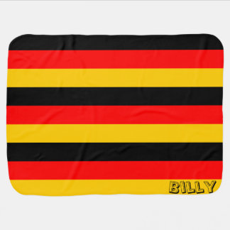 Custom German Flag Themed Baby Blanket