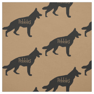 Custom German Shepherd Dog Fabric