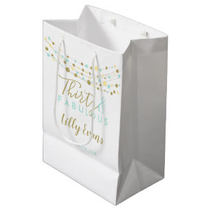 Custom Gift Bag Milestone Birthday Any Age 30th