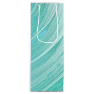 Custom Gift Bag - Wine, Glossy - green marble