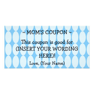 CUSTOM GIFT COUPON FOR MOM PERSONALIZED PHOTO CARD