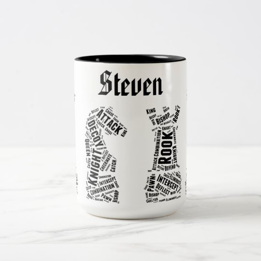 Custom Gift Name Chess Enthusiast Mug Typography