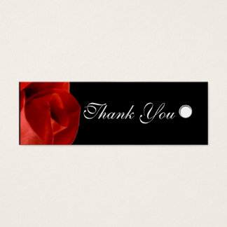Custom Gift Tags Red Rose Personalized Text Mini Business Card