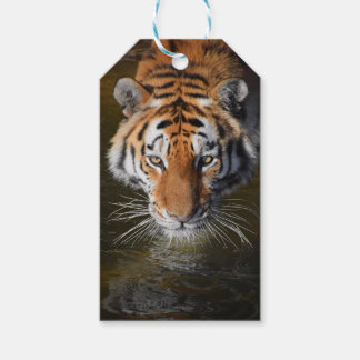Custom Gift Tags with tiger face